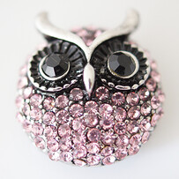 Large Top - Pretty Pink Owl