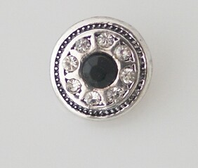 Small Top - Ring of Bling with Black Centre