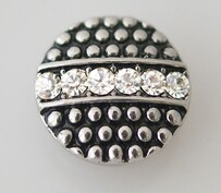 Small Top - Black, Silver, Row of Bling