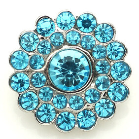 Large Top - Bling Turquoise Flower