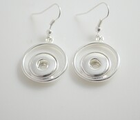 Earrings - Double Circle to Fit Small Tops