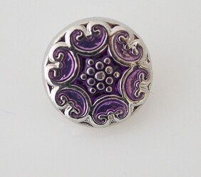 Small Top - Silver with Lilac Centre
